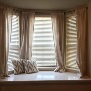 Threshold Accents - Threshold Cream Rod Pocket Curtains